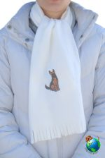 German Shepherd Scarf Cream Fleece