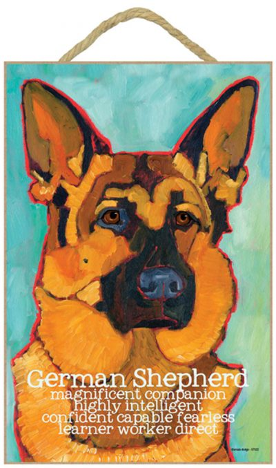 German Shepherd Characteristics Indoor Sign