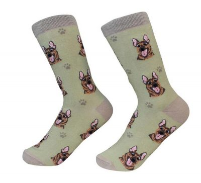 German Shepherd Face Pattern Socks