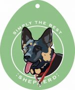 German Shepherd Sticker 4x4""