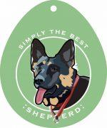 "German Shepherd Sticker 4x4"""