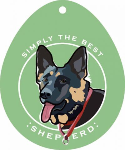 German Shepherd Sticker 4×4″ 1