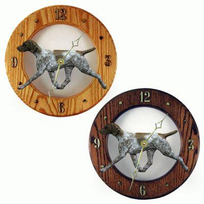 german-shorthair-pointer-clock