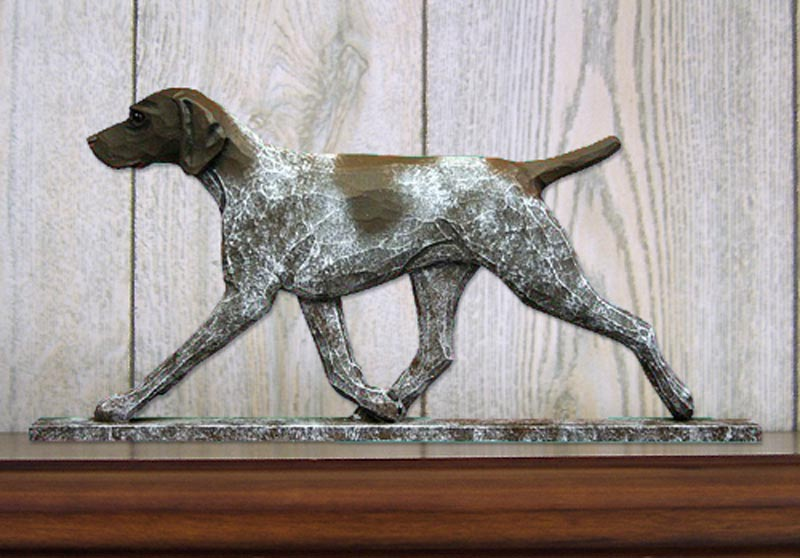 German Shorthair Pointer Figurine Sign Plaque Display Wall
