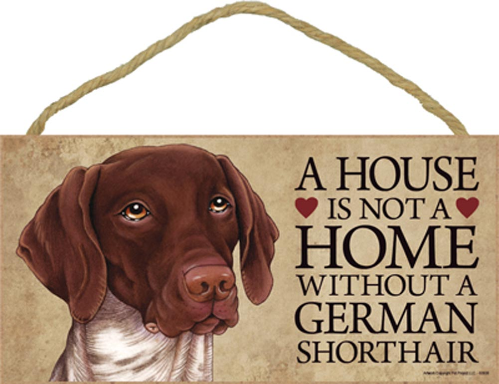German Shorthair Pointer Wood Sign Wall Plaque 5 X 10