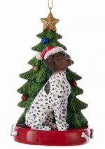 German Shorthaird Pointer Christmas Tree Ornament