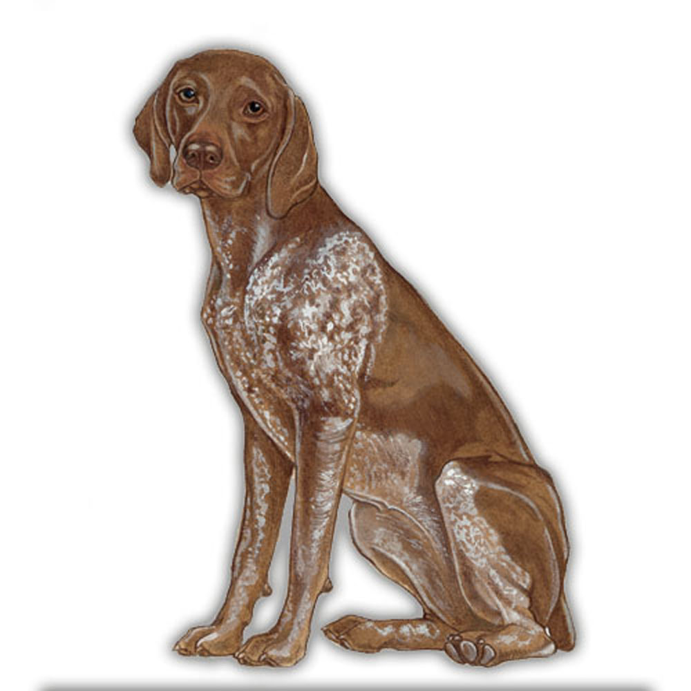 German Shorthair Pointer Wooden Magnet