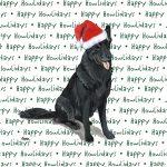 German Shepherd Dog Coasters Christmas Themed Black 1