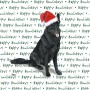 German Shepherd Dog Coasters Christmas Themed Black 1