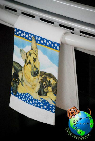 German Shepherd Kitchen Hand Towel