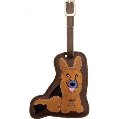 German Shepherd Dog Luggage Tag Briefcase Gym Backpack Travel ID 1