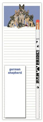 German Shepherd Dog Notepads To Do List Pad Pencil Gift Set