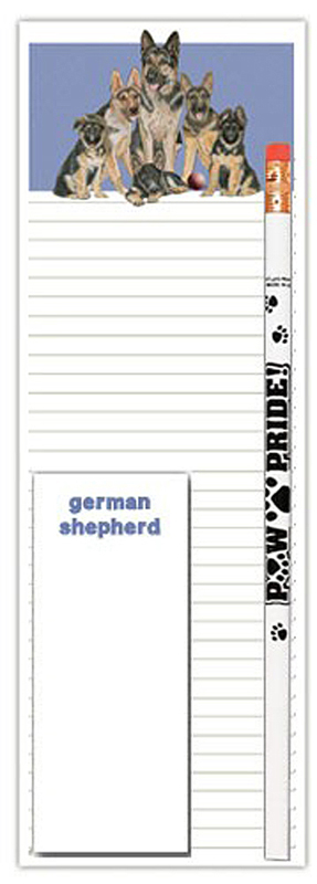 German Shepherd Dog Notepads To Do List Pad Pencil Gift Set 1