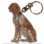 German Shorthair Pointer Wooden Dog Breed Keychain Key Ring 1