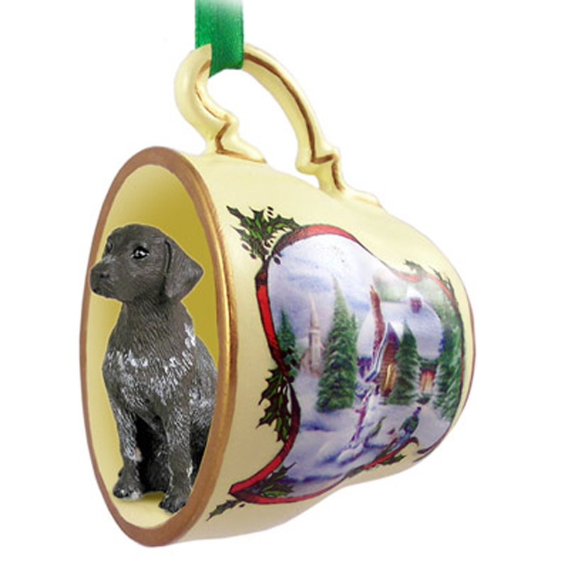 german_shorthair_snowman_dog_ornaments