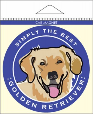 Golden Retriever Car Magnet 4×4″ 1