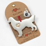 Golden Retriever Holiday Ornament & Collar Charm Set