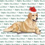 Golden Retriever Holiday Coasters Laying Down