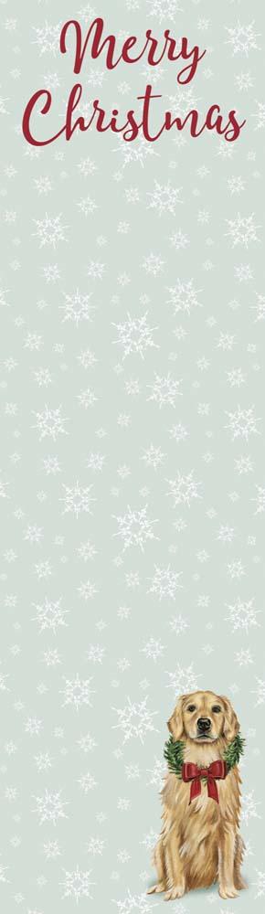 Merry Christmas Golden Retriever List Pad