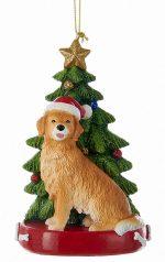 Golden Retriever Christmas Tree Ornament