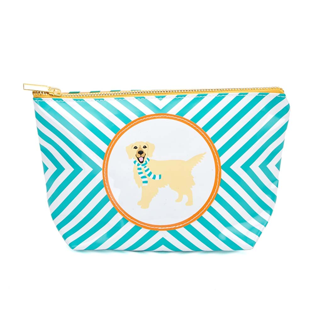 Golden Retriever Zippered Makeup Travel Bag