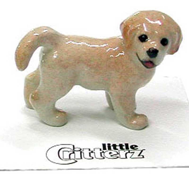 Golden Retriever Hand Painted Porcelain Miniature Figurine