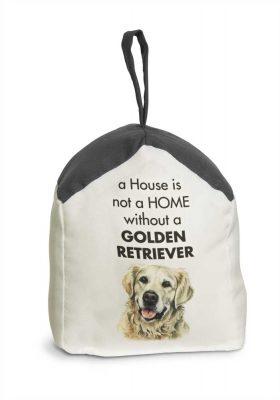 Golden Retriever Door Stopper 5 X 6 In. 2 lbs. - A House is Not a Home