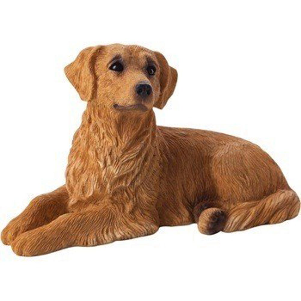Golden Retriever Figurine Hand Painted - Sandicast