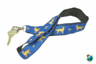 Golden Retriever Lanyard Key Holder Badge Holder