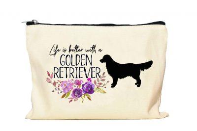 Golden Retriever Makeup bag
