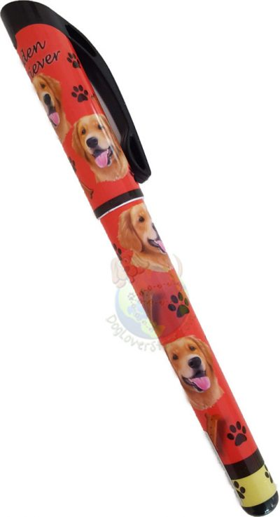 Golden Retriever Writing Pen Red in Color