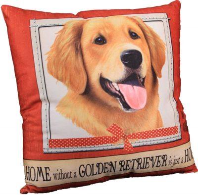 Golden Retriever Pillow 16×16 Polyester 1