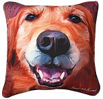 Golden Retriever Artistic Throw Pillow 18X18""
