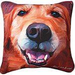 Golden Retriever Artistic Throw Pillow 18X18″ 1