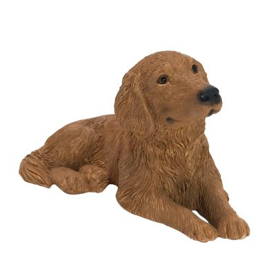 Golden Retriever Sandicast Figurine Laying Down