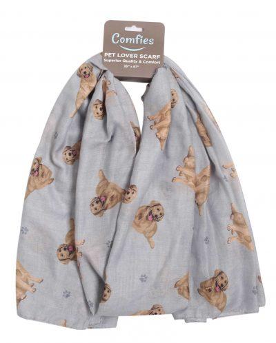 Golden Retriever Scarf -Lightweight Cotton Polyester