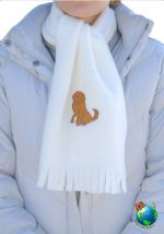 Golden Retriever Scarf Cream Fleece