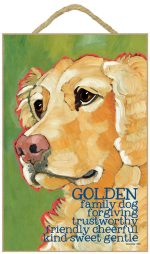 Golden Retriever Characteristics Indoor Sign