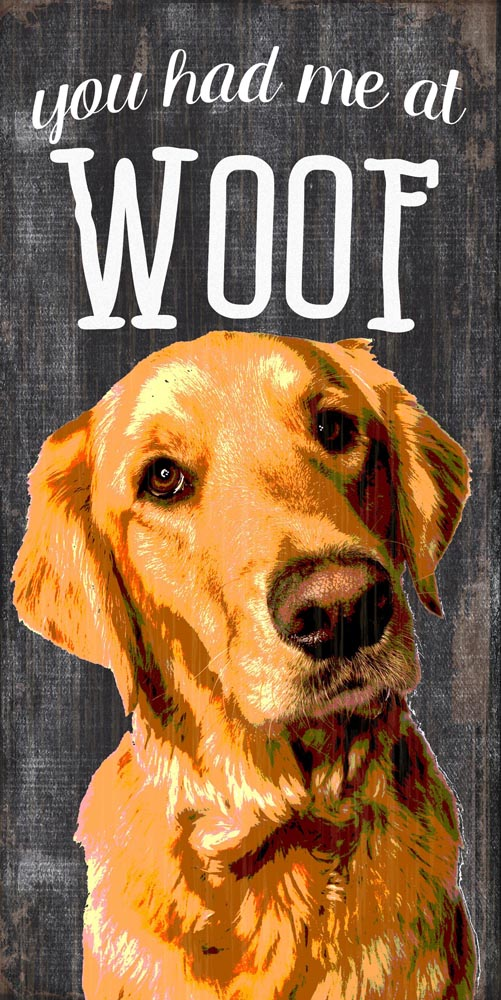 Golden Retriever Sign - You Had me at WOOF 5x10