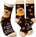 I Love My Golden Retriever Socks By Kathy