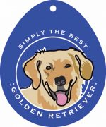Golden Retriever Sticker 4x4""