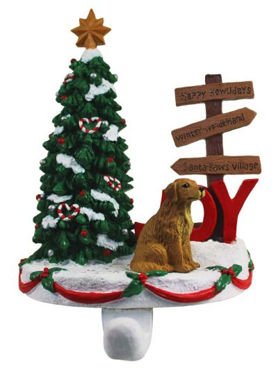 Golden Retriever Stocking Holder Hanger