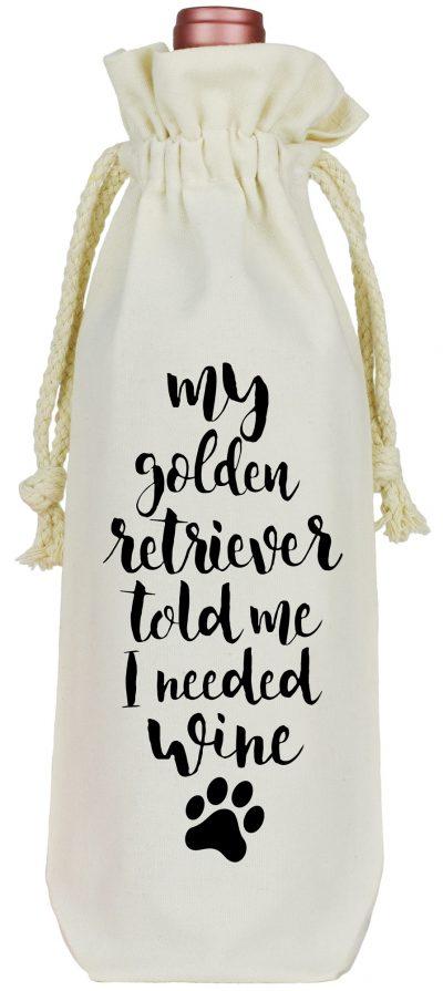 Golden Retriever Wine Bag