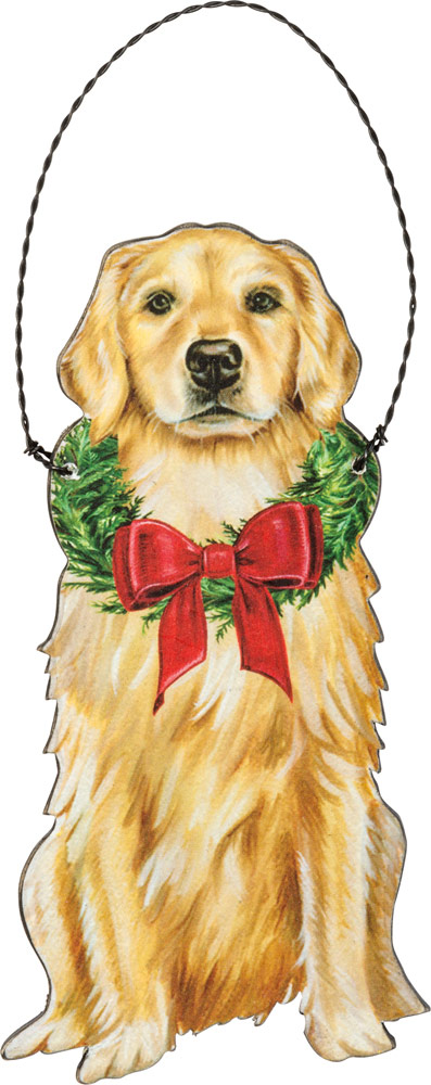 Golden Retriever Wood Ornament