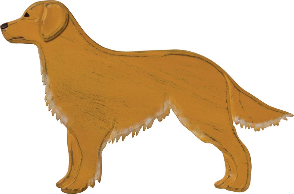 Golden Retriever Wood Wall Plaque Figure