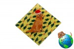Golden Retriever Dog Crystal Glass Holiday Christmas Ornament
