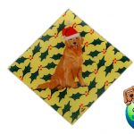 Golden Retriever Dog Crystal Glass Holiday Christmas Ornament 1