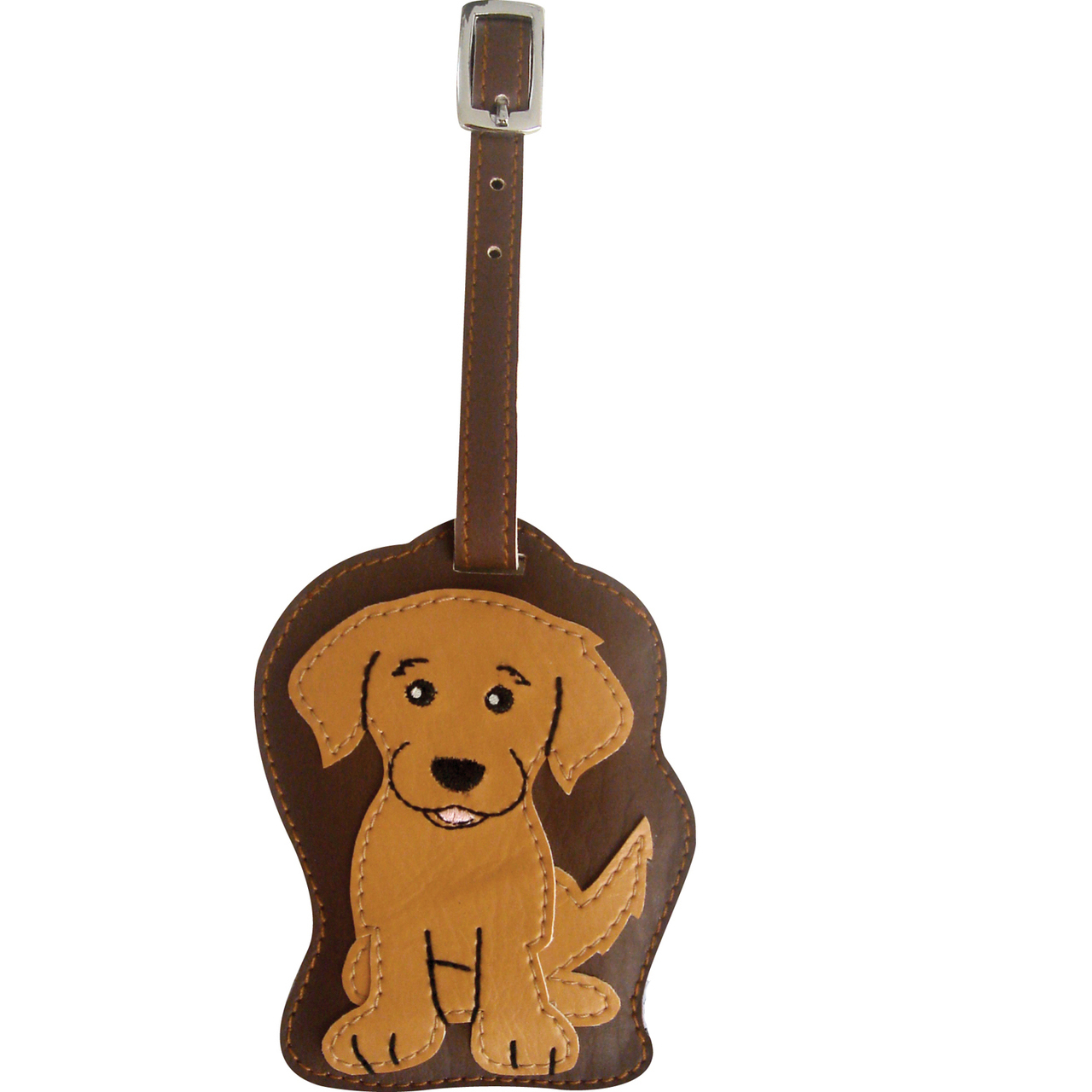 Golden Retriever Dog Luggage Tag Briefcase Gym Backpack Travel ID