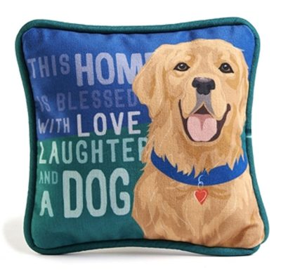 Golden Retriever Beagle Decorative Dog Pillow 9x8