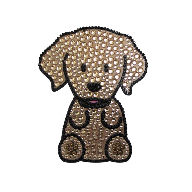Golden Retriever Dog Rhinestone Glitter Jewel Phone Ipod Iphone Sticker Decal